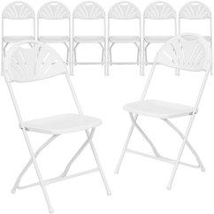 White Plastic Chairs Best Sleep Recliner Chair Folding Flash Furniture 8 Pack Hercules Series 800 Lb Capacity Fan Back