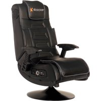 how much does a gaming chair weight office gold legs chairs walmart com product image x rocker pro series pedestal wireless black 51396