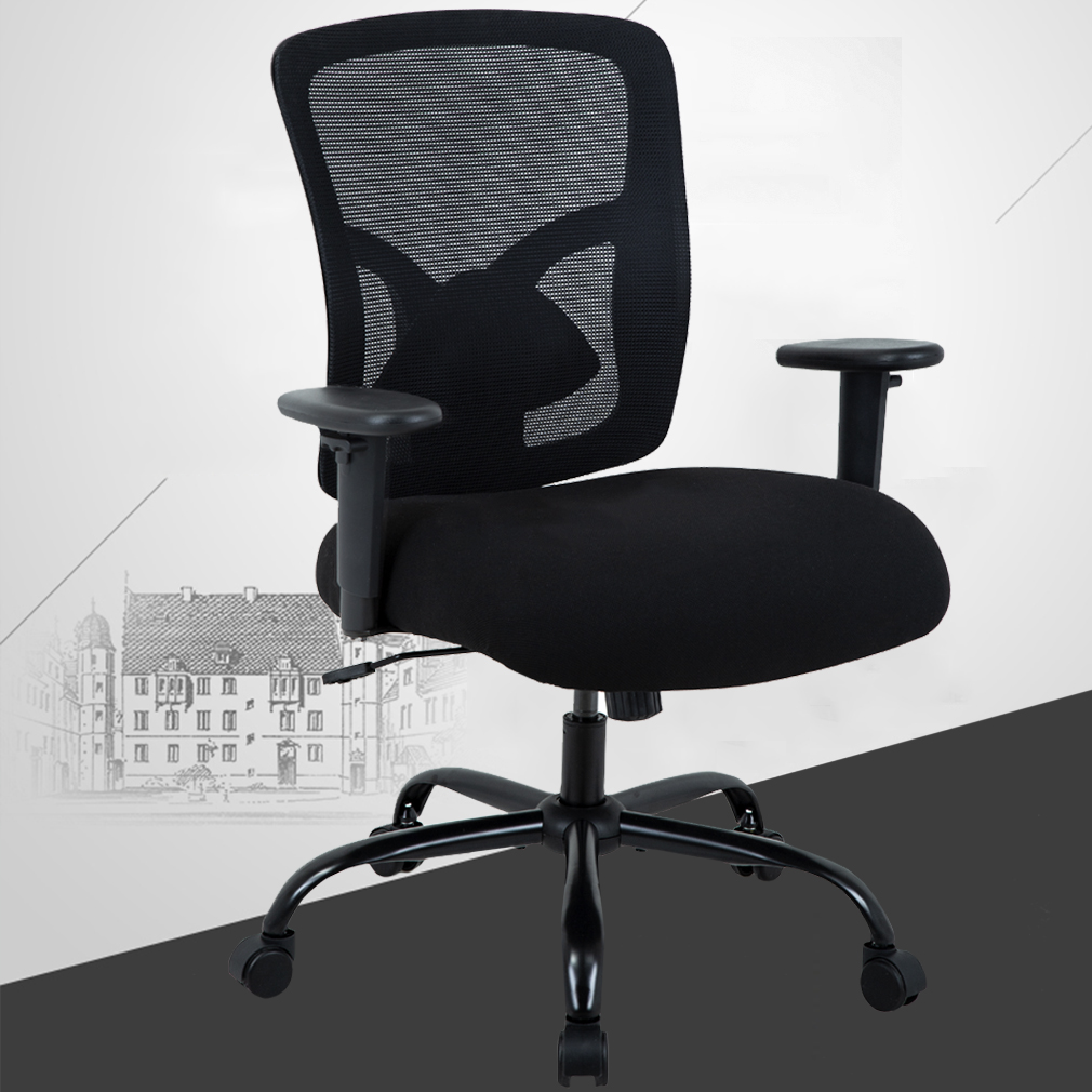 office chair lumbar support rent a tent and tables chairs with big tall 400lb ergonomic executive desk rolling swivel adjustable arms