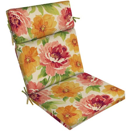 walmart patio chair cushions how much fabric to reupholster a mainstays outdoor cushion com