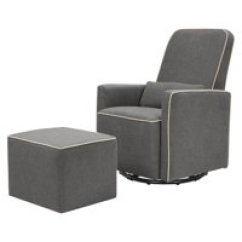 Nursery Rocking Chair Walmart Bean Bag Chairs Austin Gliders Com Product Image Davinci Olive Upholstered Swivel Glider With Bonus Ottoman In Dark Grey Cream Piping