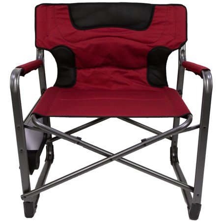 outdoor folding chair with side table accent chairs yellow ozark trail xxl padded director red walmart com