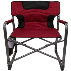 Rocky Oversized Folding Arm Chair Swing Olx Lahore Camping Chairs Ozark Trail Xxl Padded Director With Side Table Red