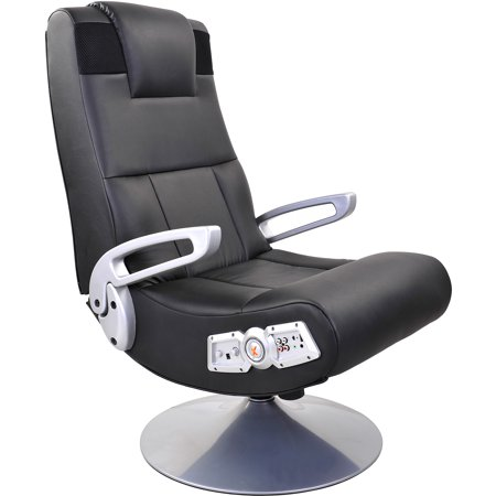 x rocker gaming chair black and white chairs pedestal with bluetooth technology walmart com