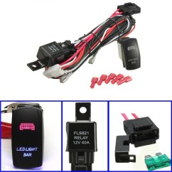 Led Light Bar Relay Wiring Diagram Subaru Impreza Gm Harnesses 1 Set Universal Work Laser Rocker Switch Harness Kit Loom W