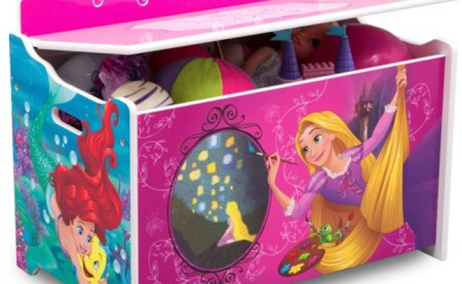 Disney Princess Deluxe Wood Toy Box By Delta Children