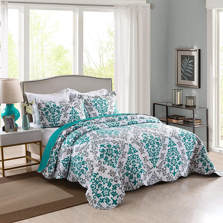 bedspread blue