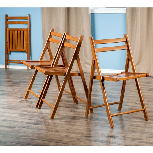 teak folding chair swivel for sale chairs winsome wood robin 4 pc set multiple finishes