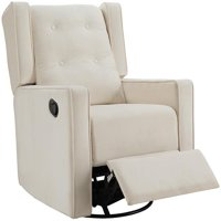 nursery rocking chair walmart how much are massage chairs gliders com product image naomi home odelia swivel rocker recliner color cream fabric microfiber