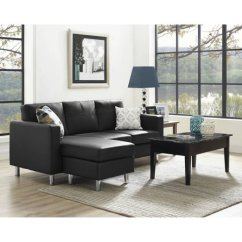 Small Es Configurable Sectional Sofa Black Ben Dorel Living Spaces Multiple Colors Walmart Com