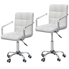 Modern White Desk Chair Pottery Barn Kids My First Office Chairs Pu Leather Midback Adjustable Executive