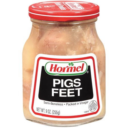 2 Pack Hormel Jarred Pigs Feet Semi Boneless in