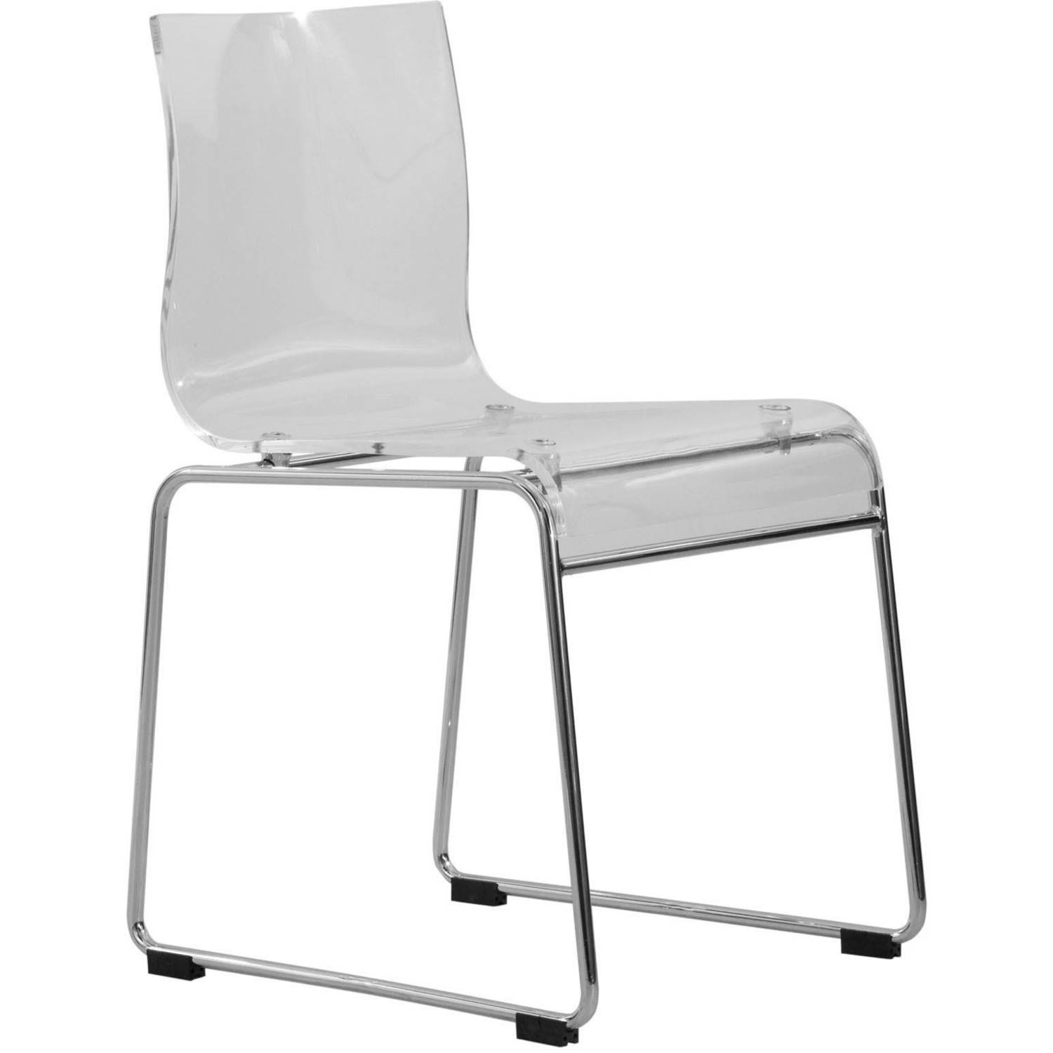 acrylic side chair with cushion covers for weddings chairs leisuremod lima modern dining in clear