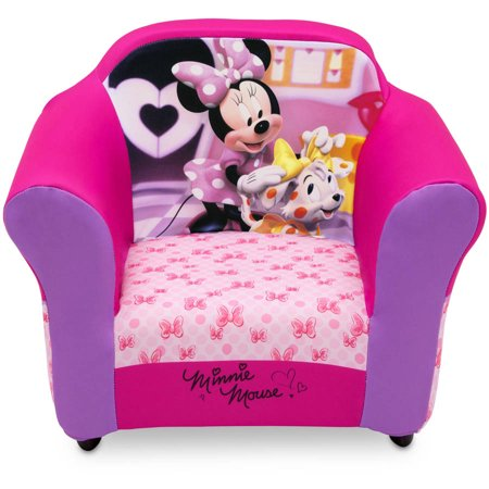 minnie mouse chair walmart the big disney kids upholstered with sculpted plastic frame by delta children com