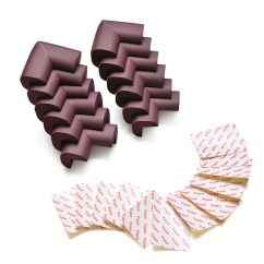 Sofa Spring Clip Strip Sectional Sofas For Small Es On Sale Corner Guards 12pcs Corners Safe Cushion Child Safety Furniture Bumper Brown