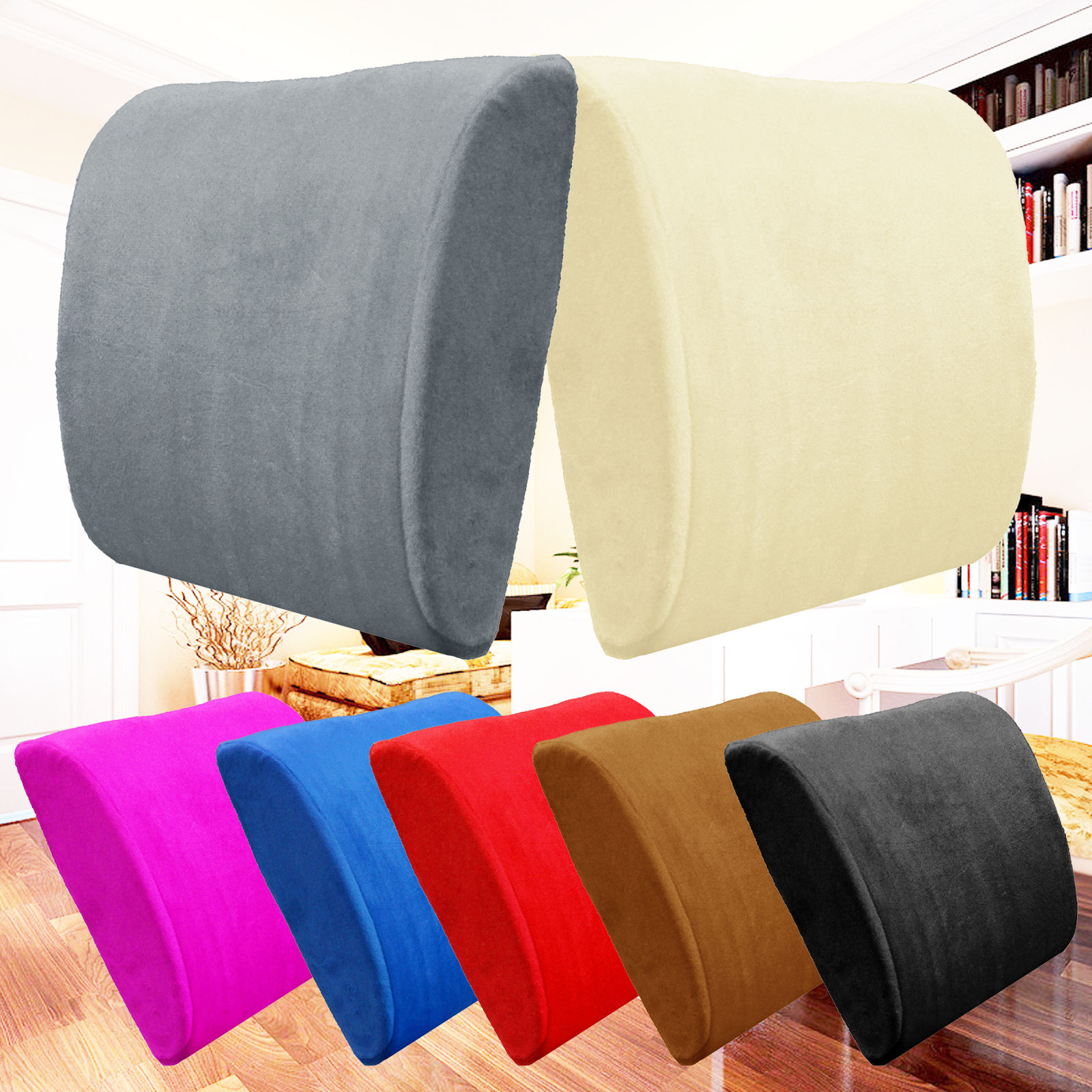 office chair cushion stool hong kong cushions memory foam lumbar back support pillow sciatica pain relief seat black and more