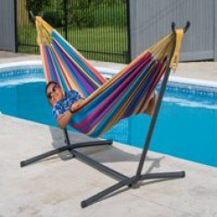 Hammock Chair Stand Calgary Comfy Bedroom Hammocks Walmart Com Product Image Vivere Double Tropical With Combo