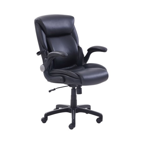 serta office chair 10 year warranty dining room manufacturers air lumbar bonded leather manager s multiple colors walmart com