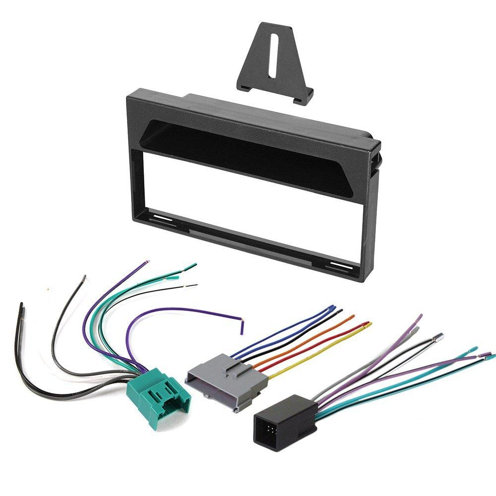 ford stereo wiring harness 1997 1998 ford f 150 aftermarket car stereo radio single din dash [ 1000 x 1000 Pixel ]