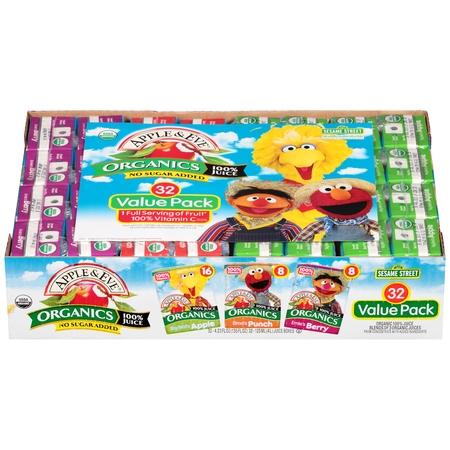 Apple Eve Sesame Street Organic 100 Juice Variety Pack