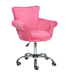 Cheap Pedicure Chairs Chair Covers Online India Salon Spa Magshion Deluxe Microfiber Office Desk Bar Stool Beauty Nail Vanity Seat Pink