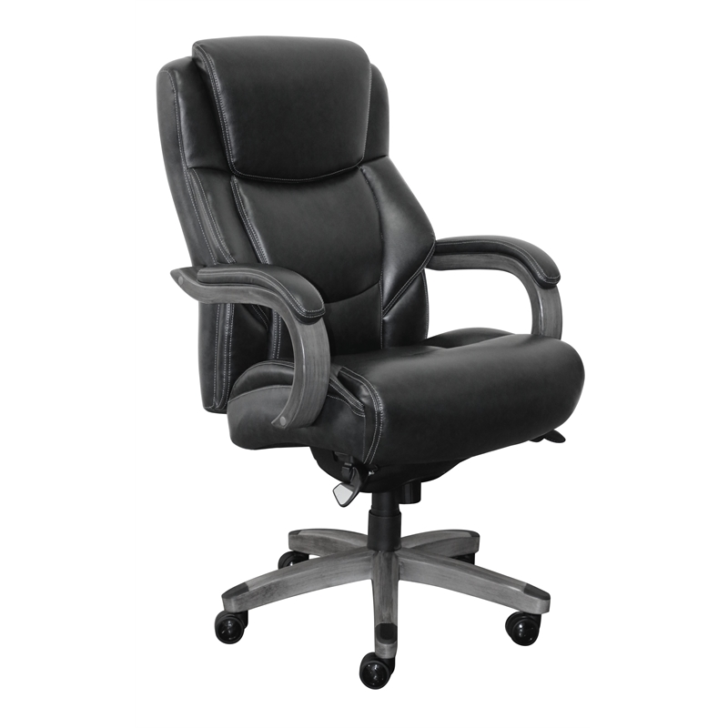lazy boy chairs on sale patio furniture swivel rocker chair la z delano executive office in jet black bonded leather