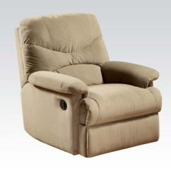 Accent Chair Recliner Hickory Stool Recliners Simple Relax Arcadia Furniture Comfort Plush Beige Microfiber