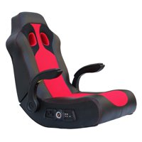 chairs with speakers lawn folding gaming walmart com product image x rocker vibe 2 1 bluetooth chair black red 5172801