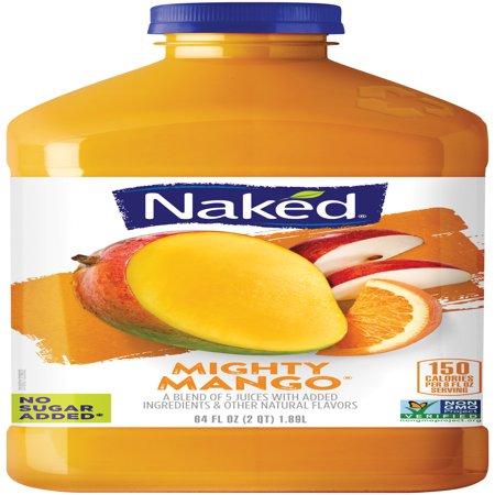 Naked Juice Fruit Smoothie Mighty Mango 64 oz Bottle