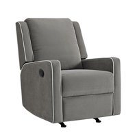 rocking chair recliner for nursery high chairs small babies gliders walmart com product image baby relax robyn graphite grey