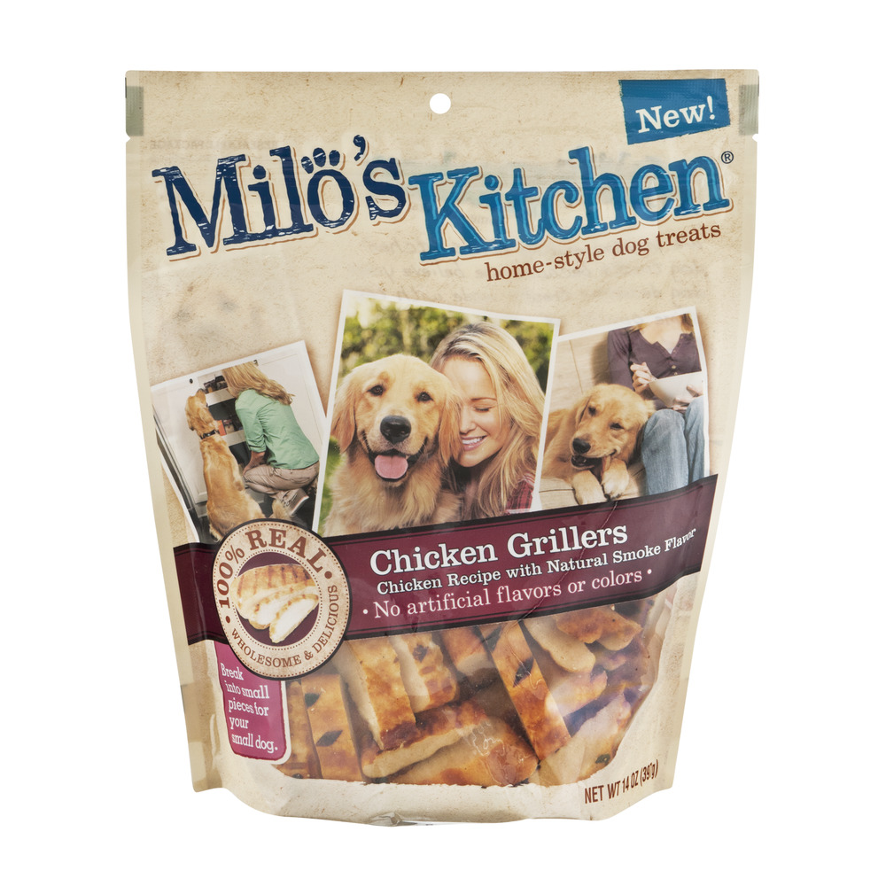 milos kitchen cabinets drawers brand milo s chicken grillers home style dog treats