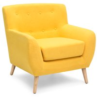 target accent chair room essentials nailhead upholstered dining chairs walmart com product image best choice products mid century modern linen button tufted for living