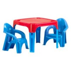 Plastic Kids Table And Chairs Dining Room Chair Covers From Ikea Sets Walmart Com Product Image American Toys