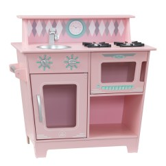 Kid Kitchens Black Kitchen Table With Bench Kids Sets Kidkraft Classic Wooden Pretend Play Cooking Kitchenette Toy Set For Pink