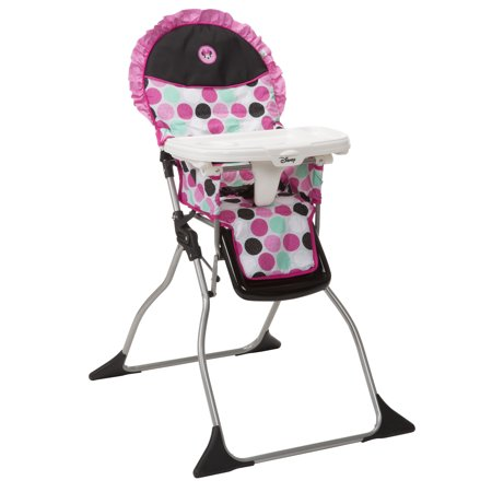 attachable high chair cowhide dining room chairs disney baby simple fold plus minnie dotty walmart com