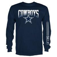 dallas cowboys chairs sale hot pink adirondack team shop walmart com product image men s navy logo mack long sleeve t shirt