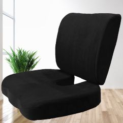 Office Chair Cushion Cantilever Dining Cushions Memory Foam Back Lumbar Coccyx Support Pillows Two Piece Set Sciatica Pain Relief Seat