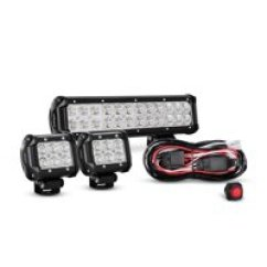 Led Light Bar Wiring Diagram With Relay Carrier Air Conditioner Thermostat Bars Walmart Com Product Image Nilight 12 Inch 72w Spot Flood Combo 2pcs 4 18w