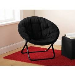 Double Saucer Chair Black Waiting Chairs Mainstays Microsuede Multiple Colors