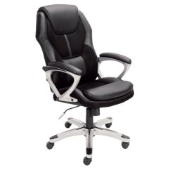 Office Chair Mesh Bed Walmart Serta Executive Puresoft Faux Leather With Black