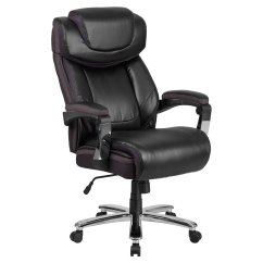 Big And Tall Office Chairs Back Chair Support Flash Furniture Hercules Series 500 Lb Capacity Black Leather Executive Swivel