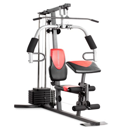 resistance chair exercise system reviews mickey mouse high banner weider 2980 home gym with 214 lbs of walmart com