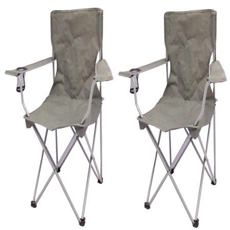 ice fishing lawn chair parson covers target ozark trail quad folding camp 2 pack walmart com