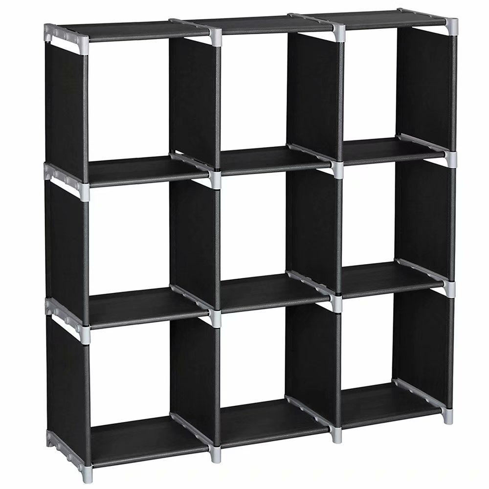 living room shelving units tropical furniture sets wall unit 3 tiers 9 compartments storage shelves diy modular bookcase bookshelf toy rack display cabinet