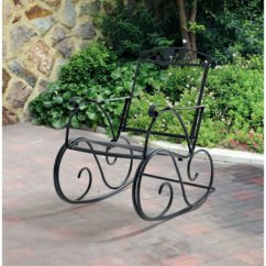 Wrought Iron Rocking Chair Book Shelf Mainstays Jefferson Outdoor Porch