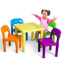 tables and chairs for toddlers chair design italian kids table sets walmart com product image oxgord play set toddler child toy activity furniture indoor or outdoor