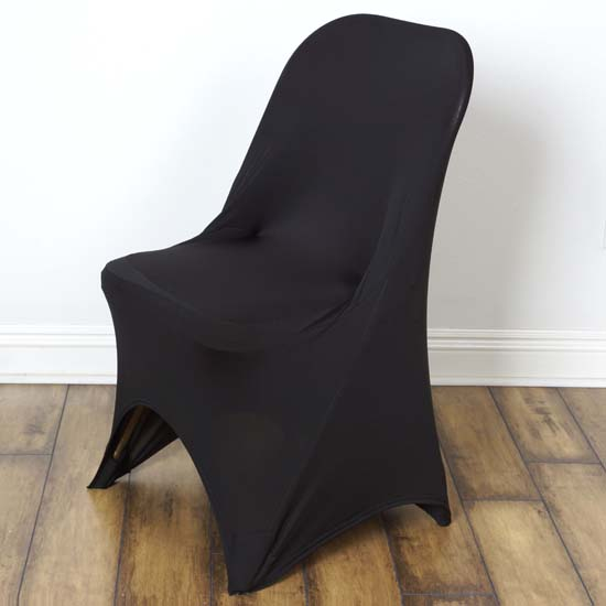 lycra chair covers for sale outdoor glider chairs wicker wedding spandex black efavormart 100pcs stretchy fitted folding cover dinning event slipcover hotel dining party