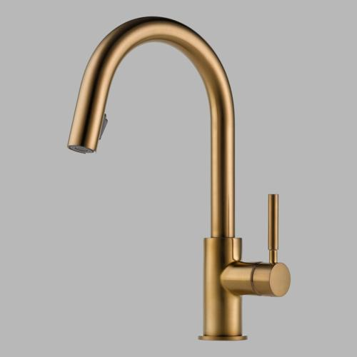 brizo kitchen faucet sink refinishing porcelain faucets solna single handle pull down 63020lf bl