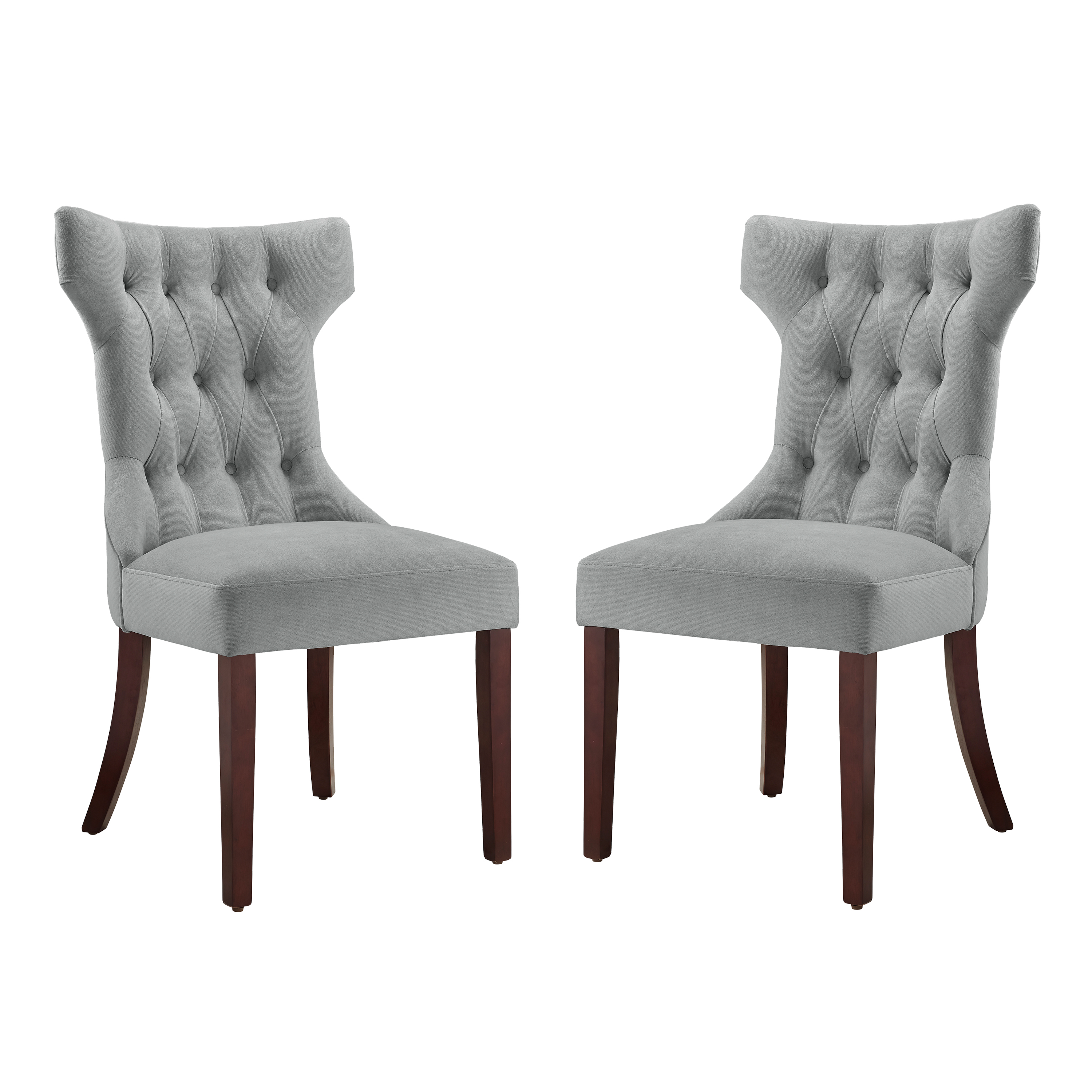 white tufted chair how to make a wooden beach accent chairs dorel living clairborne upholestered dining set of 2