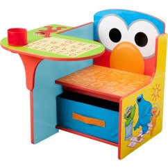 Childs Desk And Chair Nursing Chairs For Small Rooms Sesame Street Elmo Toddler With Storage Walmart Com